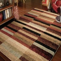 Carolina Weavers Euphoria Collection Walcott Multi Shag Area Rug (7'10 x 10'10)