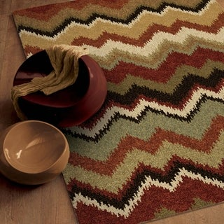 Carolina Weavers Comfy and Cozy Euphoria Collection Paloma Multi Shag Area Rug (5'3 x 7'6)
