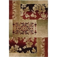 Carolina Weavers Grand Comfort Collection Cultured Leaves Beige Shag Area Rug (5'3 x 7'6)