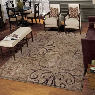 Carolina Weavers Grand Comfort Collection Toro Beige Shag Area Rug (5'3 x 7'6)