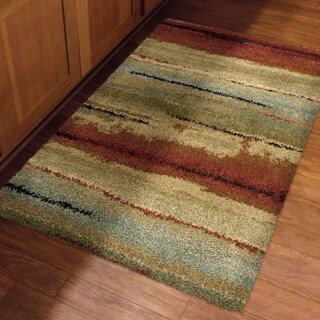 Carolina Weavers Comfy and Cozy Grand Comfort Collection Field of Vision Multi Shag Area Rug (3'11 x 5'5)