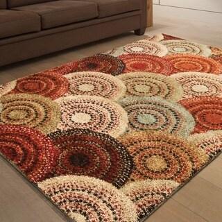 Carolina Weavers Grand Comfort Collection Pinochle Multi Shag Area Rug - 3'11 x 5'5