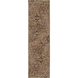 Carolina Weavers Comfy and Cozy Grand Comfort Collection Toro Beige Shag Area Rug (2'3 x 8')