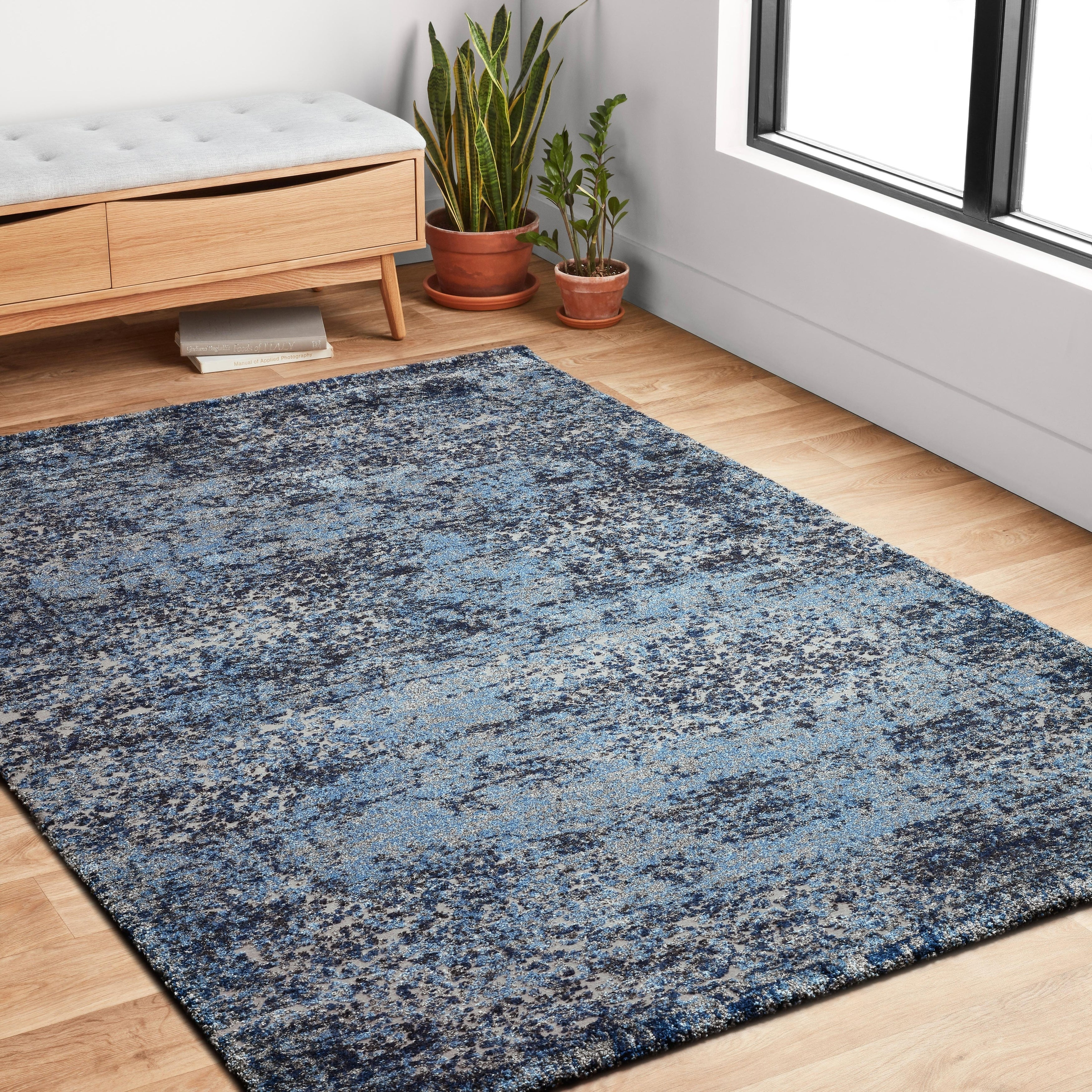 Abstract Modern Distressed Area Rug