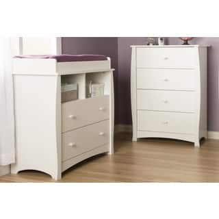 South Shore Beehive Pure White Changing Table and 4-drawer Chest|https://ak1.ostkcdn.com/images/products/9629699/P16815191.jpg?impolicy=medium