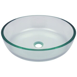625 Clear Glass Vessel Bathroom Sink