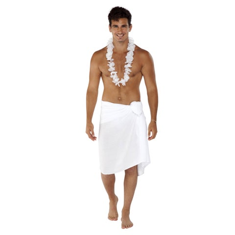 Handmade 1 World Sarongs Men's Solid Color Fringeless Sarong (Indonesia)