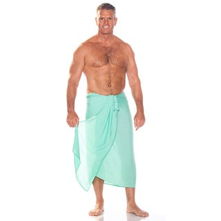 1 World Sarongs Men's Solid Color Fringeless Sarong (Indonesia)