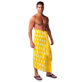 1 World Sarongs Men's Elephant Sarong (Indonesia)
