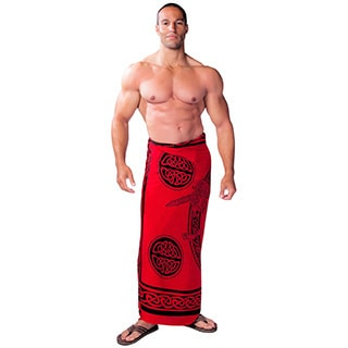 1 World Sarongs Women's Handmade Men's Celtic Unicorn Sarong (Indonesia) (Option: White)