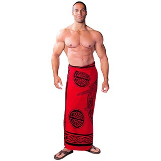 1 World Sarongs Women's Handmade Men's Celtic Unicorn Sarong (Indonesia)