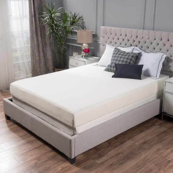 Choice 8 inch queen size memory foam mattress by christopher knight home free shipping today Home furniture queen size bed