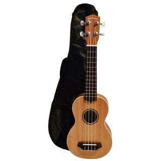 Deluxe Hula Beach Soprano Ukulele with Gig Bag