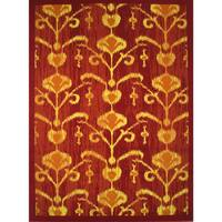 Cello Red Area Rug - 5' x 8'
