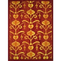 Cello Red Area Rug