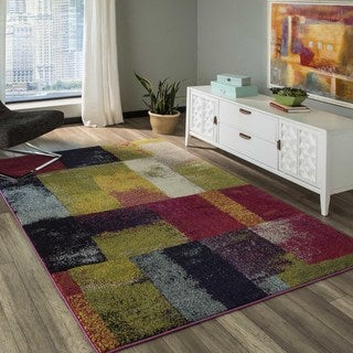 Abode Multi Power-Loomed Cube Rug (5'3 x 7'6)