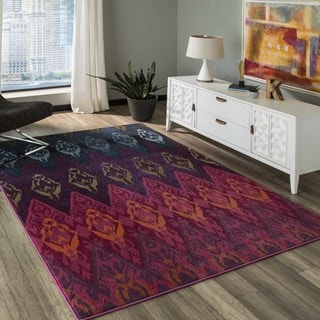 Abode Multi Power-Loomed Graphic Rug (5'3 x 7'6)