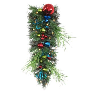 36-inch Retro Pre-lit Teardrop Garland Christmas Decoration