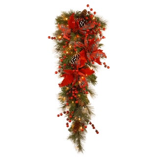 36-inch Tartan Plaid Garland Christmas Decoration