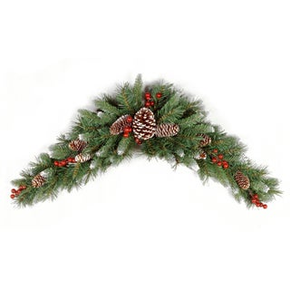 3-foot Frosted Berry Pine Crescent