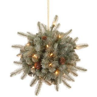 12-inch Frosted Arctic Spruce Kissing Ball