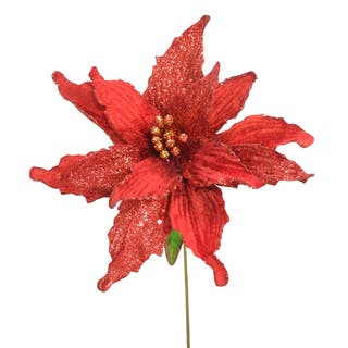 26.5-inch Glittery Red Poinsettia (Set of 12)|https://ak1.ostkcdn.com/images/products/9630113/P16815580.jpg?impolicy=medium