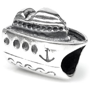 Queenberry .925 Sterling Silver 'Nautical Cruise Ship' European Bead Charm