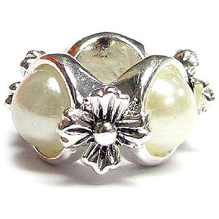 Queenberry .925 Sterling Silver 'White Pearl Flower' European Bead Charm|https://ak1.ostkcdn.com/images/products/9630119/P16815590.jpg?impolicy=medium
