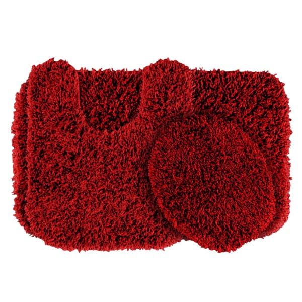 Shop Somette Quincy Super Shaggy 3 Piece Washable Bath Rug