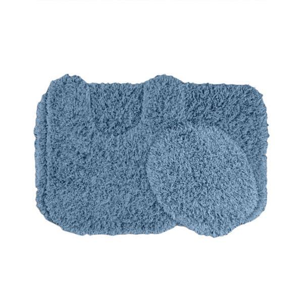 Shaggy 3 Piece Washable Bath Rug