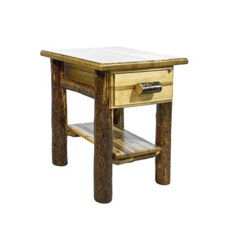Glacier Country Collection Nightstand/ End Table with Drawer and Shelf