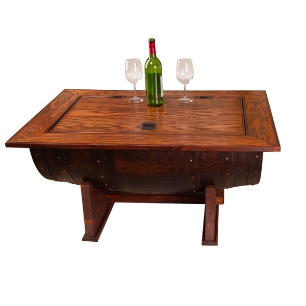 Wine Barrel Coffee Table.Shop Wine Barrel Coffee Table Free Shipping Today Overstock
