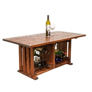 Coffee Table with Wine Rack