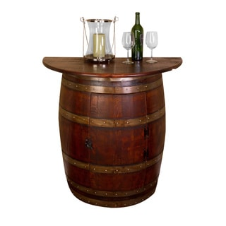 Half-barrel Wall Cabinet with Oak Top