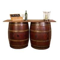 Double Half Barrel Bar