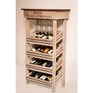 Napa Vineyard Wine Tall Rack Cabinet