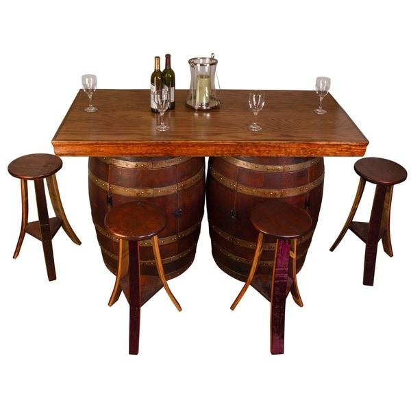 Wine Barrel Bar/Island Set