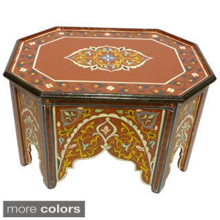 Handmade Multicolored Wood Coffee Table (Morocco)