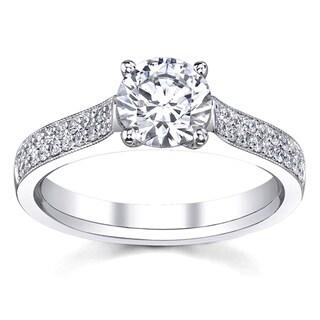14k White Gold 3/4ct TDW Custom Diamond Engagement Ring