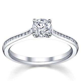 14k White Gold 3/4ct TDW Diamond Engagement Ring