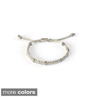 Noir Classy Woven Beaded Bracelet (Guatemala)