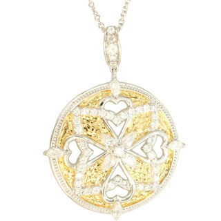Michael Valitutti Gold over Silver Medallion Pendant