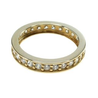 Michael Valitutti 14k Yellow Gold Cubic Zirconia Eternity Band