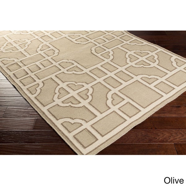 Hand-woven Vicky Reversible Wool Area Rug (2' x 3')