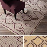 Hand-woven Viola Reversible Wool Area Rug