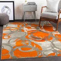 Aiden Contemporary Dots Area Rug - 7'6 x 10'6