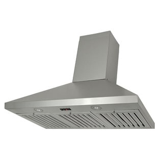 Kobe Brillia OVS-CHX8136SQB-40 36-inch Stainless Steel Range Hood with LED Light and QuietMode