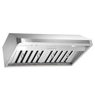 Kobe Brillia OVS-CHX9130SQB-40 30-inch Stainless Steel Under Cabinet Range Hood with LED Light and Q