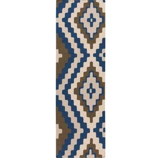Hand-woven Freda Reversible Wool Rug (2'6 x 8')