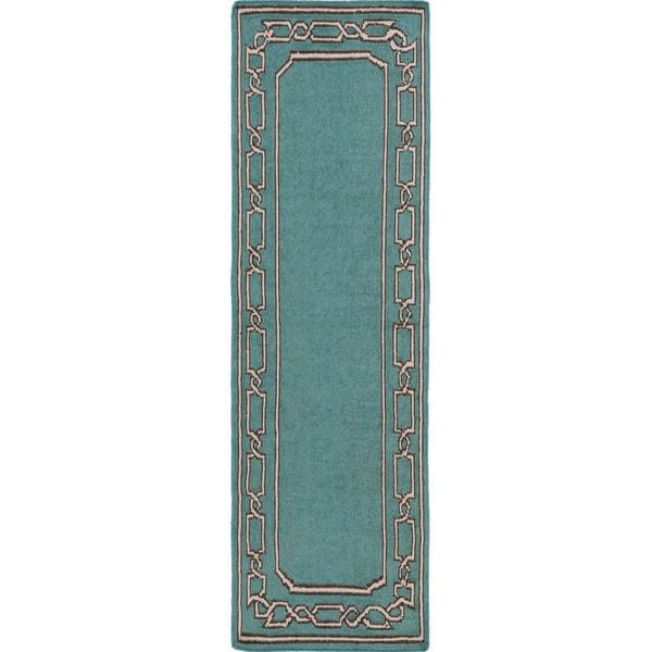 Hand-woven Newhaven Reversible Wool Rug (2'6 x 8')